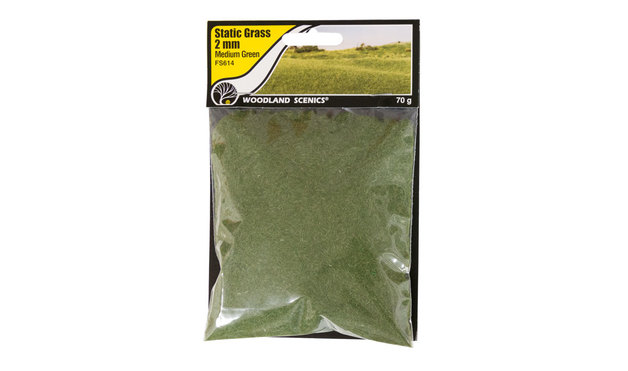 Woodland Scenics Static Grass Medium Green 2mm