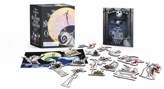 Tim Burton's The Nightmare Before Christmas Magnet Set by Tim Burton