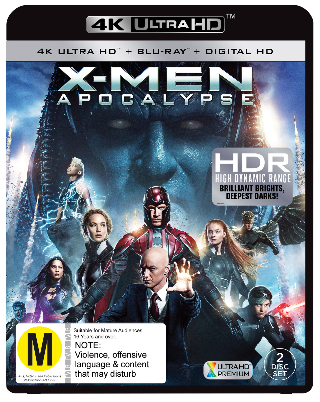 X-Men Apocalypse on Blu-ray, UHD Blu-ray image