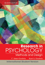 Research In Psychology by C.James Goodwin