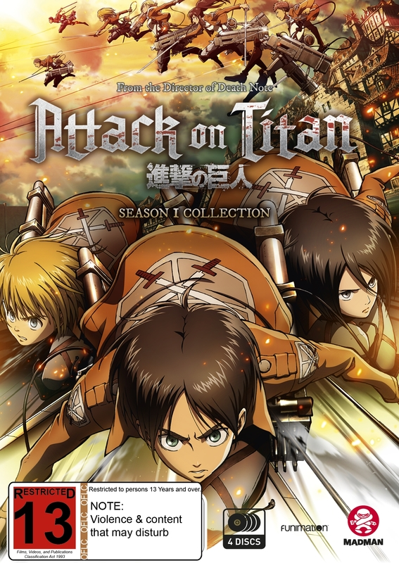 Attack On Titan - Season 1 Collection on DVD