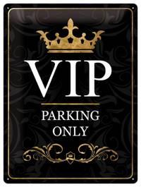 Nostalgic Art: Tin Sign - VIP Parking