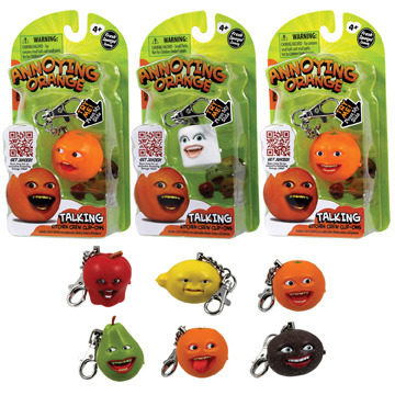 Annoying Orange Talking Keyring - Marshmallow