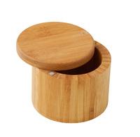 MasterPro: Bamboo Round Salt Box (9x9x7cm)