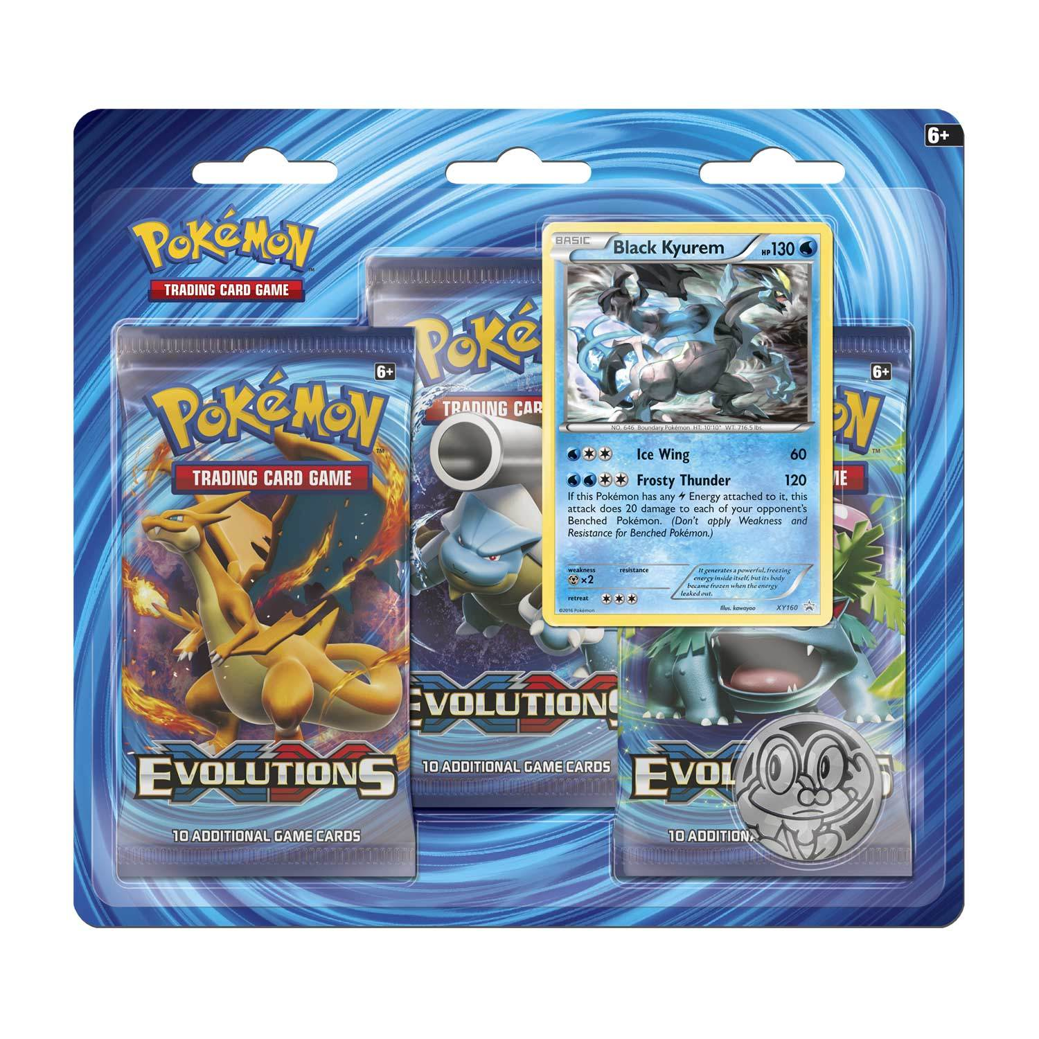 Pokemon Tcg Xy Evolutions 3 Pack Blister Black Kyurem Image At Mighty Ape Nz