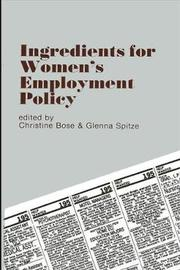 Ingredients for Women's Employment Policy image