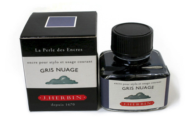 J Herbin: Fountain Pen Ink - Gris Nuage (30ml)