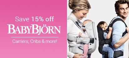 15% off Baby Bjorn!