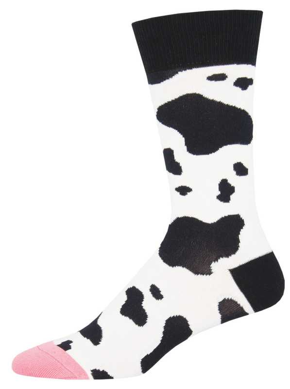 Socksmith: Mens Moooo! - White