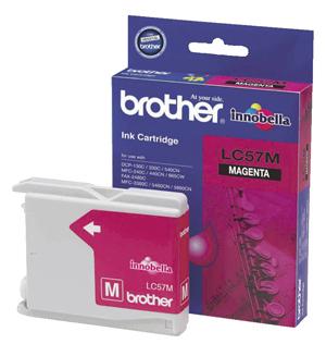 Brother LC57M Magenta inkjet cartridge.