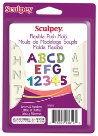 Sculpey Push Molds - Letters & Numbers