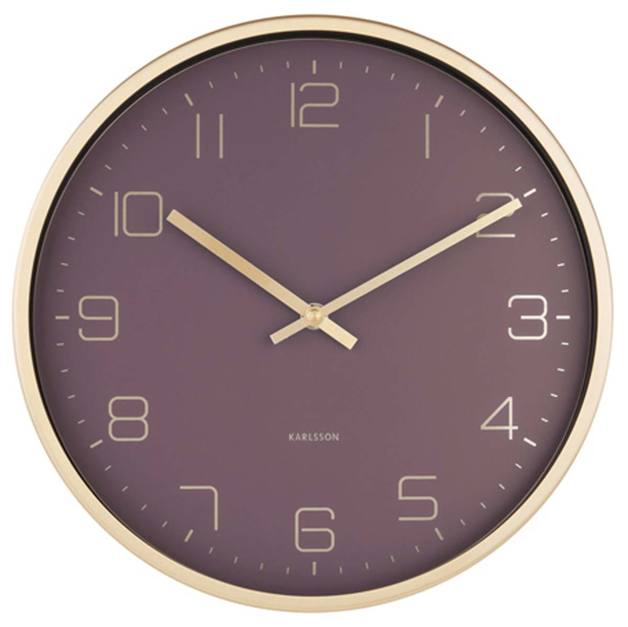 Karlsson Gold Elegance Wall Clock - Purple