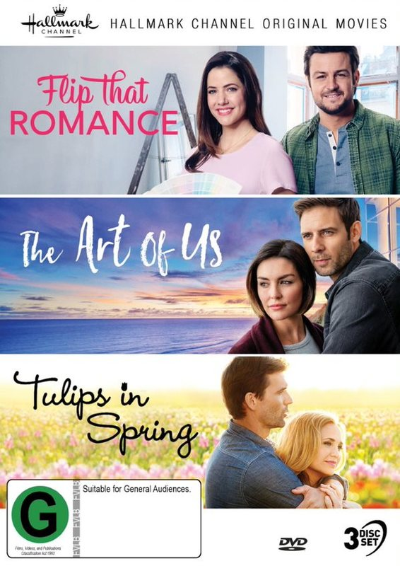 Hallmark Collection 8: Flip That Romance / The Art Of Us / Tulips In Spring on DVD