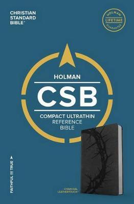 CSB Compact Ultrathin Bible, Charcoal LeatherTouch by Csb Bibles by Holman
