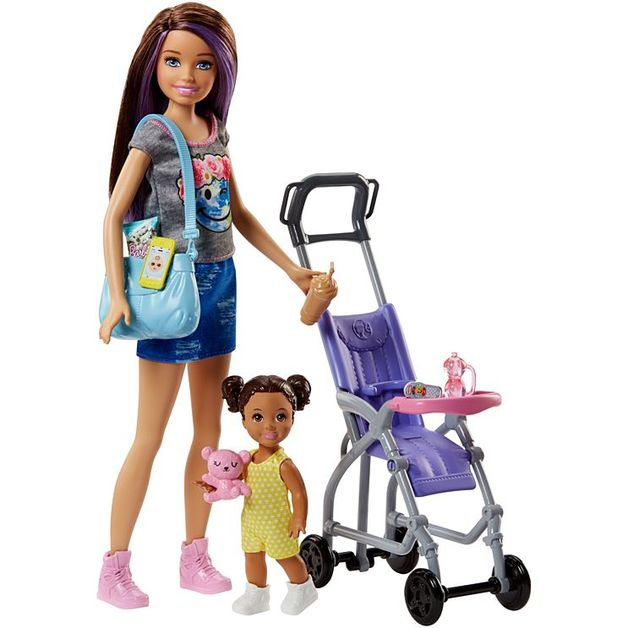 Barbie: Babysitters Inc. - Doll & Playset (Stroller)
