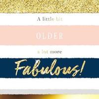 Bellini Birthday Greeting Card - Fabulous