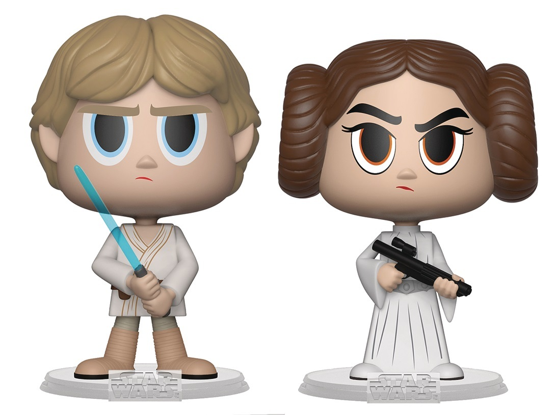 Luke Skywalker + Princess Leia - Vynl. Figure 2-Pack image