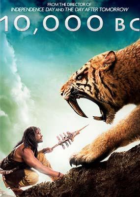 10,000 BC on DVD image