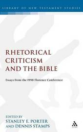 Rhetorical Criticism and the Bible image