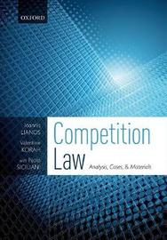 Competition Law by Ioannis Lianos