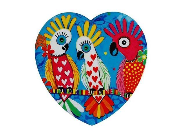 Maxwell & Williams: Love Hearts Ceramic Heart Coaster - Chatter
