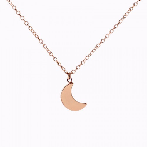 Moon Necklace - Rose Gold