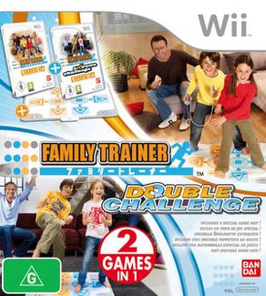 Family Trainer Double Challenge + Mat Bundle for Nintendo Wii image