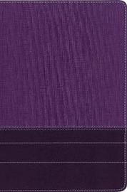 NIV, Thinline Bible, Large Print, Leathersoft, Purple, Red Letter Edition, Comfort Print by Zondervan