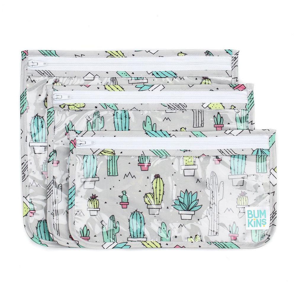 Bumkins: Clear Travel Bag - Cacti (3 Pack) image