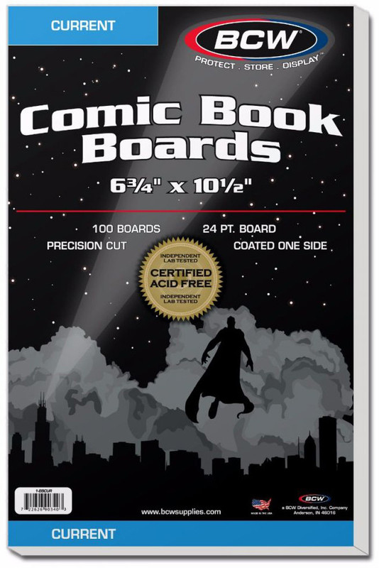 """BCW: Comic Backing Boards - Current (6.75"""" x 10.5"""")"""