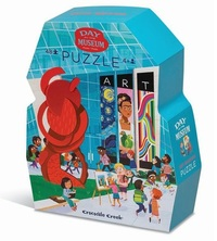 Crocodile Creek: 48-Piece Shaped Box Puzzle - Day at the Museum image