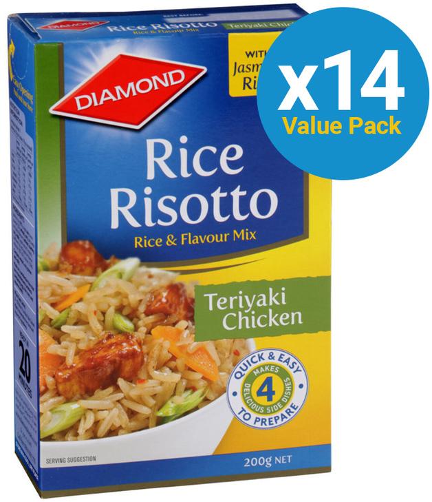 Diamond: Rice Risotto Teriyaki Chicken 200g (14 Pack)