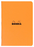 Rhodia Classic Stapled Cahier A4 Lined (Orange)