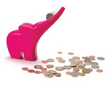 Monkey Business: Elli Rolling Coins Bank - Pink