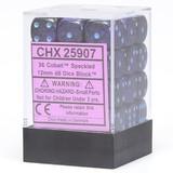 Chessex Signature 12mm D6 Dice Block: Cobalt Speckled