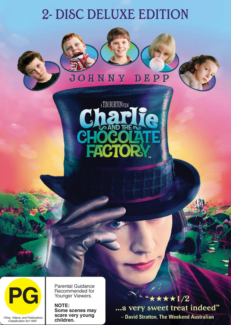 Charlie and the Chocolate Factory on DVD image