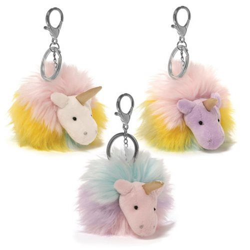 Unicorn Rainbow Poofs - Plush Key Chain image
