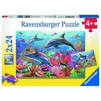 Ravensburger : Colorful Underwater World Puz 2x24pc