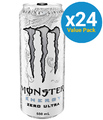 Monster Energy Zero Ultra Energy Drink 500ml Can (24 Pack)
