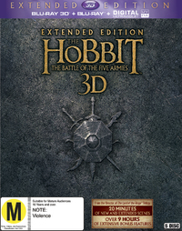 The Hobbit: The Battle of Five Armies - Extended Edition on Blu-ray, 3D Blu-ray, UV
