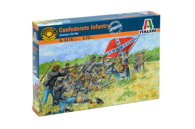 Italeri 1:72 Confederate Infantry Model Kit