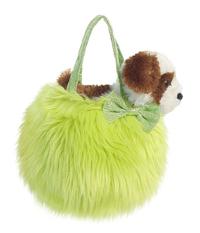 Fancy Pal Pet Carrier - Fluffy Green