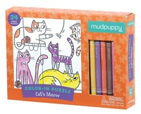 Mudpuppy: Colour-in Puzzle - Cat's Meow