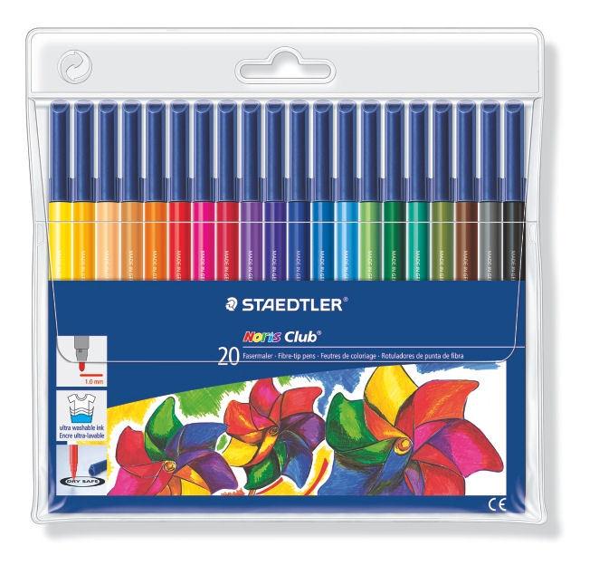 Staedtler Fibre Tip Pens Wallet of 20 image
