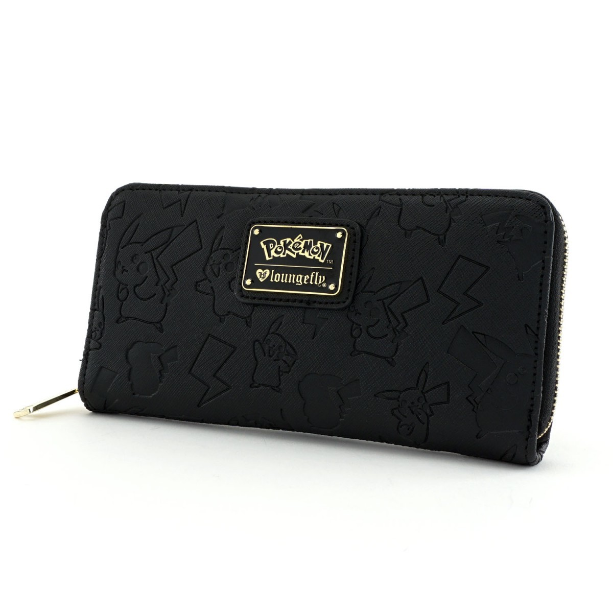 Loungefly Pokemon Pikachu Black Embossed Zip Around Wallet image