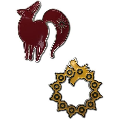 The Seven Deadly Sins: Wrath & Greed - Character Pin Set