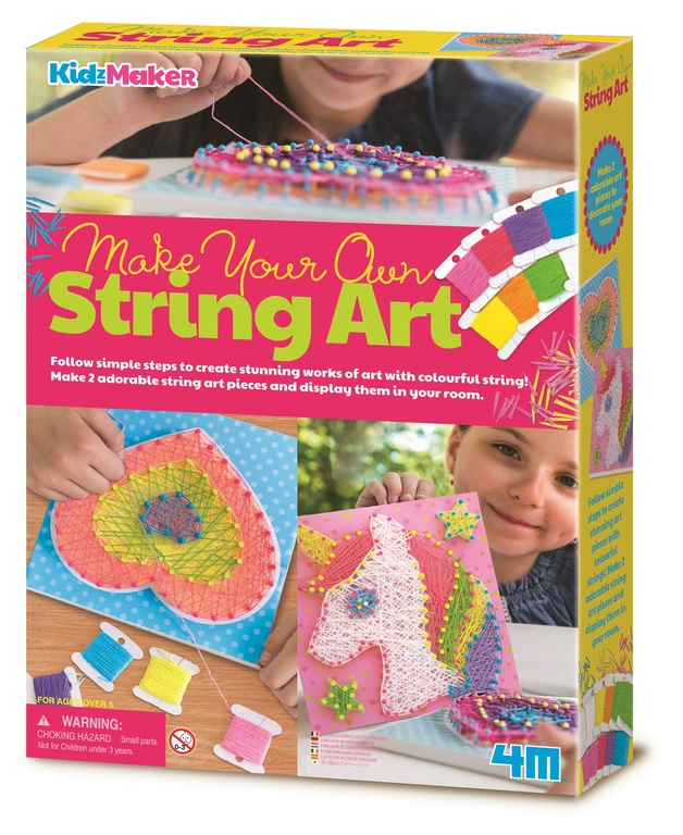4M KidzMaker: Make Your Own - String Art Kit