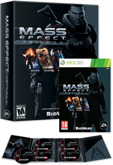 Mass effect trilogy for xbox 360.