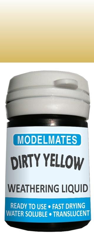 Modelmates: Translucent Weathering Liquid – Dirty Yellow