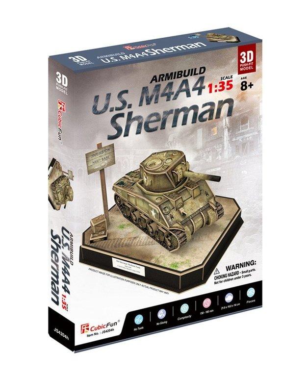 CubicFun: ArmiBuild - US M4A4 Sherman - 263 Piece 3D Puzzle